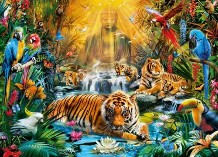 Jigsaw Puzzle - Mystic Tigers (#39380) - 1000 Pieces Clementoni