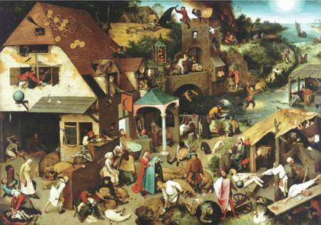 Wooden Jigsaw Puzzle - Netherlandish Proverbs (#RMN225) - 250 Pieces