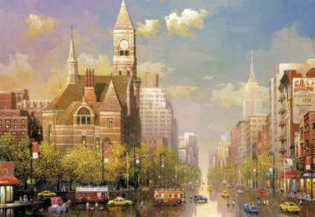 Jigsaw Puzzle - New York Afternoon (#16783) - 6000 Pieces Educa