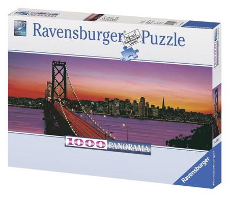 Jigsaw Puzzle - Oakland Bay Bridge at Night (Panoramic) (#15104) - 1000 Pieces Ravensburger