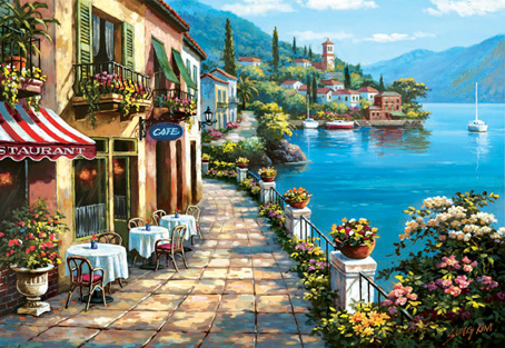 Jigsaw Puzzle - Overlook Cafe - 1500 Pieces Educa