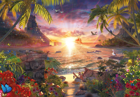 Jigsaw Puzzle - Paradise Sunset - 18000 Pieces Ravensburger