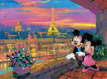 Thomas Kinkade Jigsaw Puzzle - Paris Sunset (#3377-2) - 1000 Pieces Ceaco