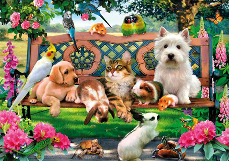 Wooden Jigsaw Puzzle - Pets in the Park - 500 Pieces Wentworth