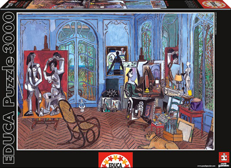 Jigsaw Puzzle - Picasso's Studio (#15539) - 3000 Pieces Educa