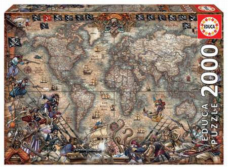 Jigsaw Puzzle - Pirates Map (18008) - 2000 Pieces Educa