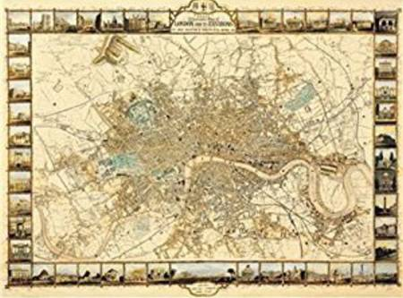 Jigsaw Puzzle - Plan of London (#2801N16019G) - 1000 Pieces Ricordi