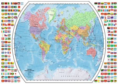 Jigsaw Puzzle - Political World Map - 1000 Pieces Ravensburger