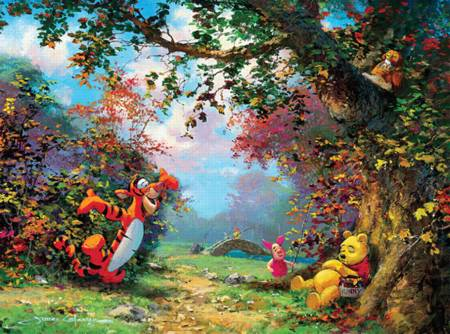 Thomas Kinkade Jigsaw Puzzle - Pooh`s Afternoon Nap (#3377-1) - 1000 Pieces Ceaco