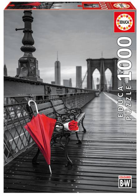 Jigsaw Puzzle - Red Umbrella Brooklyn (#17691) - 1000 Pieces Educa
