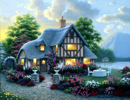 Jigsaw Puzzle - Romantic Garden - 1000 Pieces Clementoni