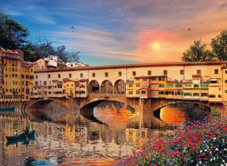 Jigsaw Puzzle - Romantic Italy, Florence (#39220) - 1000 Pieces Clementoni