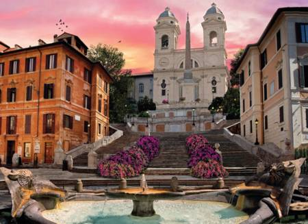 Jigsaw Puzzle - Romantic Italy, Rome (#39219) - 1000 Pieces Clementoni