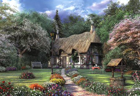 Jigsaw Puzzle - Rose Cottage (#15565) - 1500 Pieces Educa