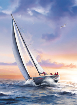 Jigsaw Puzzle - Sailboat (#39208) - 1000 Pieces Clementoni