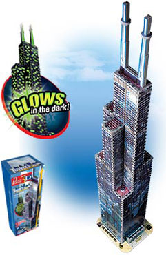 3D Jigsaw Puzzle - Sears Tower - Wrebbit