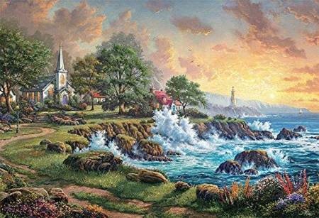 Thomas Kinkade Jigsaw Puzzle - Seaside Haven (#3501-5) - 2000 Pieces Ceaco