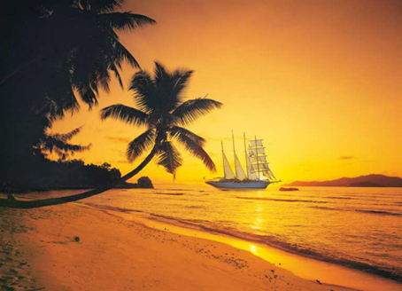 Jigsaw Puzzle - Seychelles at Sunset (#39235) - 1000 Pieces Clementoni