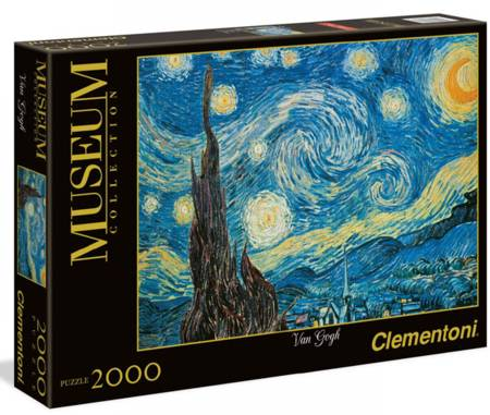 Jigsaw Puzzle - Starry Night (#32531) (Box Slightly Dented) - 2000 Pieces Clementoni