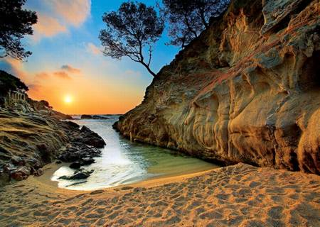 Jigsaw Puzzle - Sunrise, Costa Brava, Spain (27048)