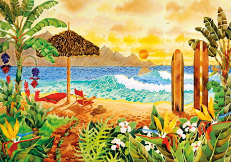 Jigsaw Puzzle - Surfing the Islands (#31993) - 1500 Pieces Clementoni