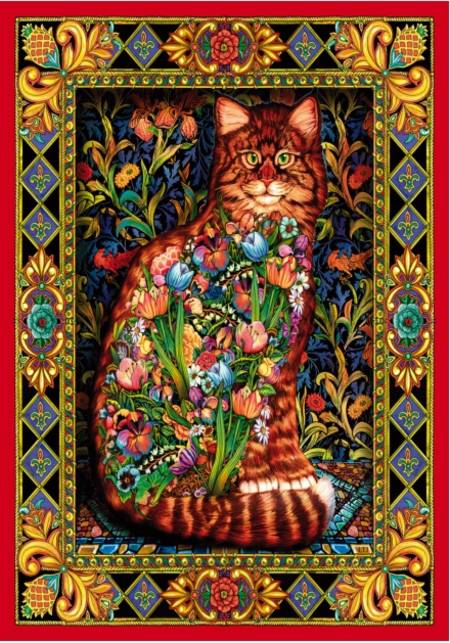 Wooden Jigsaw Puzzle - Tapestry Cat (#681703) - 250 Pieces Wentworth
