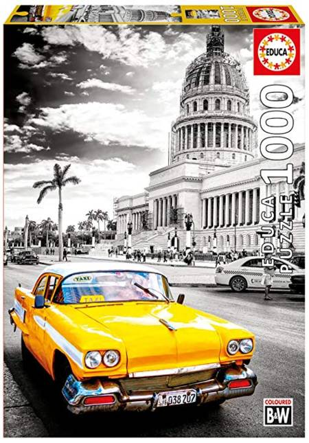Jigsaw Puzzle - Taxi in Havana (#17690) - 1000 Pieces Educa