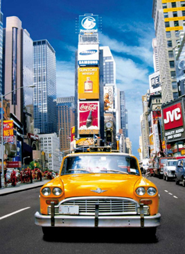 Jigsaw Puzzle - Taxi in Times Square (#30338) - 500 Pieces Clementoni