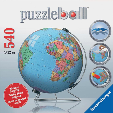 3D Jigsaw Puzzle - The Globe (#12433) - Ravensburger