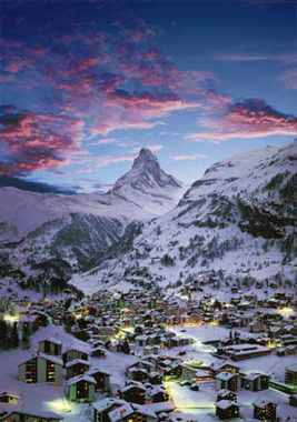 Jigsaw Puzzle - The Matterhorn (Winter) - 1000 Pieces Clementoni