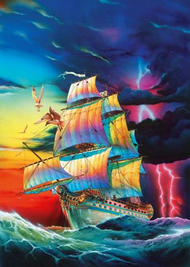 Glow in Dark Jigsaw Puzzle -The Storm - 1000 Pieces Clementoni