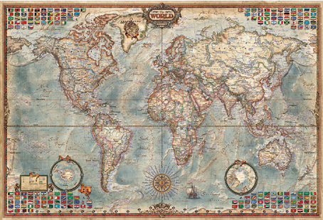Jigsaw Puzzle - The World Executive Map - 4000 Pieces Educa