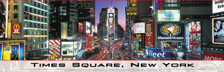 Jigsaw Puzzle - Times Square, NY (Panoramic Image) - 750 Pieces