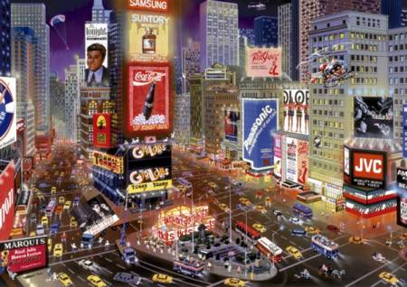Jigsaw Puzzle - Times Square (#16325) - 8000 Pieces Educa