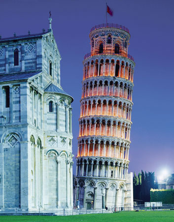 Jigsaw Puzzle - Tower of Pisa (Night) (#31485) - 1000 Pieces Clementoni
