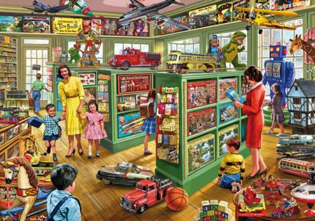 Wooden Jigsaw Puzzle - Toy Shop (#721708) - 250 Pieces