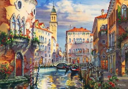 Wooden Jigsaw Puzzle - Venice Before Sunset (#722405) - 500 Pieces Wentworth