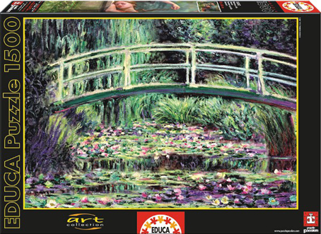 Jigsaw Puzzle - White Waterlillies (#15535) - 1500 Pieces Educa