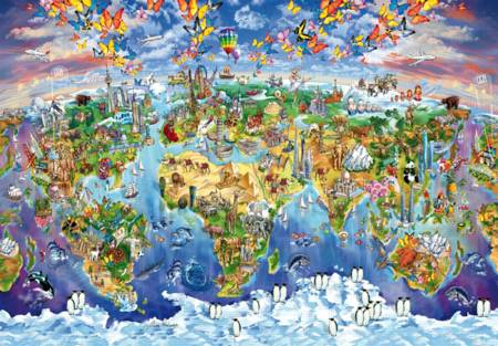 Wooden Jigsaw Puzzle - World Wonders (#702513) - 1000 Pieces