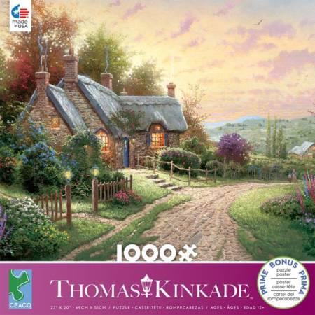 Painter of Light Puzzles Puzzle 2000 Teile Gardens Beyond Spring Gate Thomas Kinkade