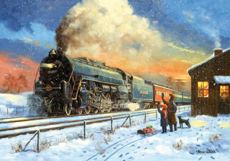 Wooden Jigsaw Puzzle - Home for Christmas (Train) - 1000 Pieces ...